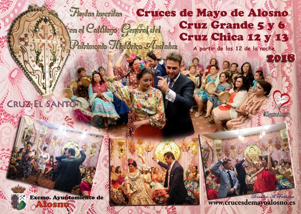Cartel Cruces de Mayo Alosno 2018
